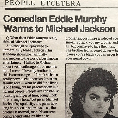 1990 American Newspaper Articles Collection of MICHAEL JACKSON
