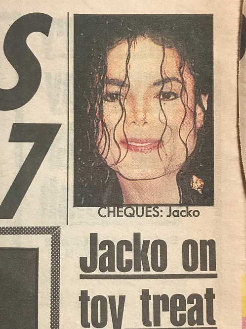 1992 Jacko On Toy Treat DAILY MIRROR News Article MICHAEL JACKSON KYLIE MINOG