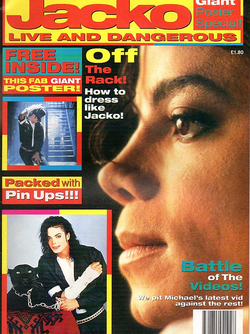 1991 JACKO LIVE AND DANGEROUS Magazine with Giant Poster