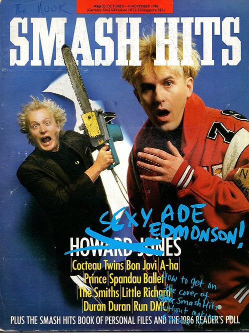 SMASH HITS October 1986 Howard Jones