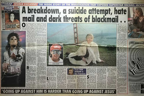 1994 A Breakdown, A Suicide Attempt MICHAEL JACKSON Today News Article