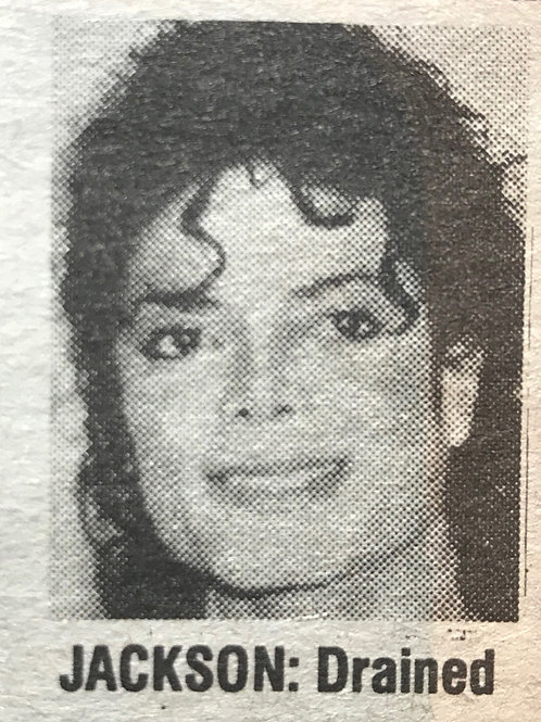 1990 June 'Jacko Suicide Fears' The People Newspaper Article MICHAEL JACKSON