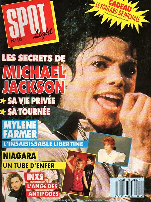1988 No.10 RARE FRENCH Spot Light Magazine MICHAEL JACKSON BROS INXS WET WET WET