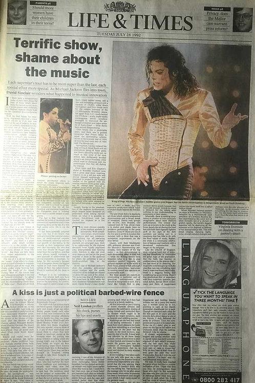 1992 'Terrific Show' The Times Michael Jackson Dangerous Tour Review