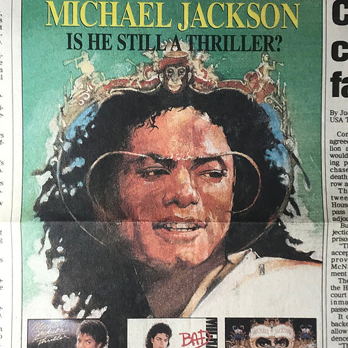 1991 Nov Is He Still A Thriller? USA Today News Article MICHAEL JACKSON