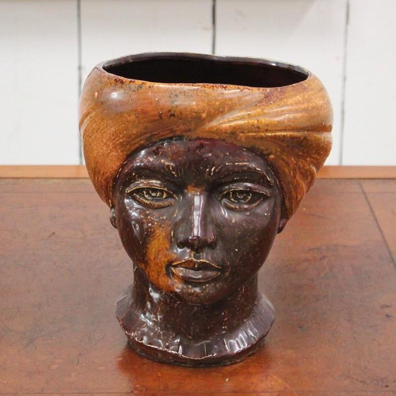 A Testa di Moro - ceramic sculpture in the shape of a Moor's head