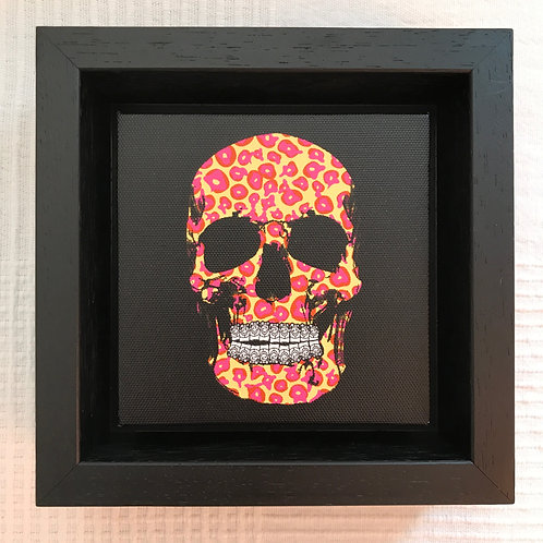 'Leopalicious' by PINS. Leopard print skull painting