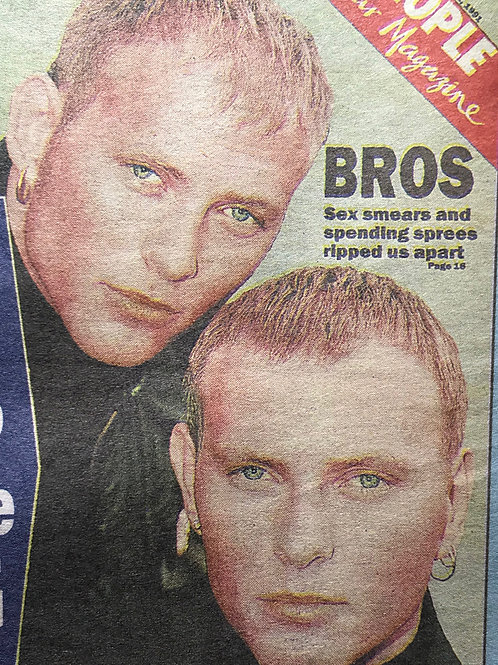 THE PEOPLE Newspaper Article featuring BROS Oct 1991 British