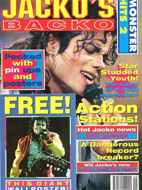 1991 'Jacko's Backo' Monster Hits 2 Magazine + Poster UK MICHAEL JACKSON