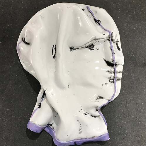 Maurizio Lo Castro 'Flat White' at White City Gallery London. Porcelain mask sculpture 2nd Skin BDSM