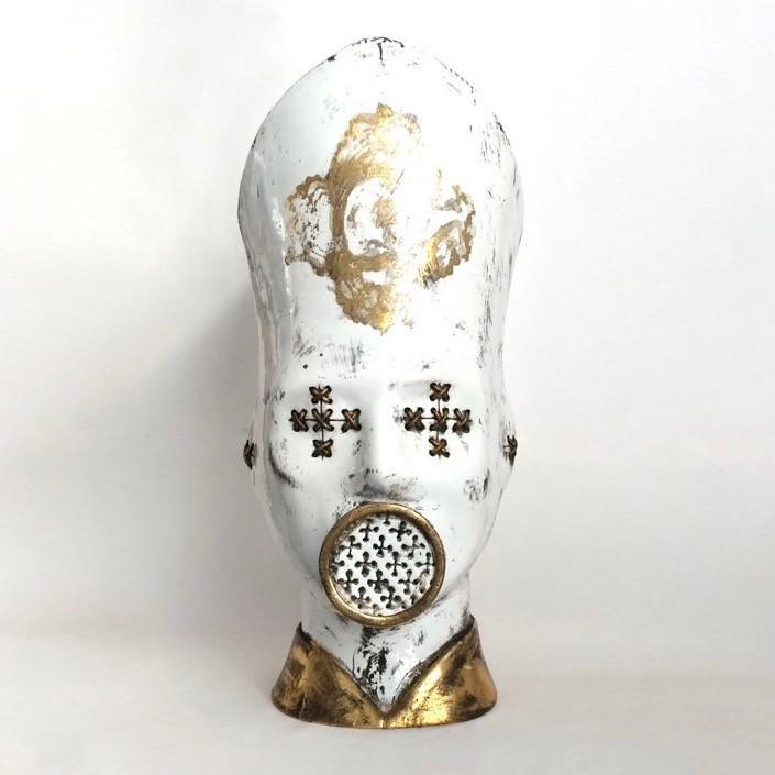 'Papá' porcelain head sculpture by Maurizio Lo Castro