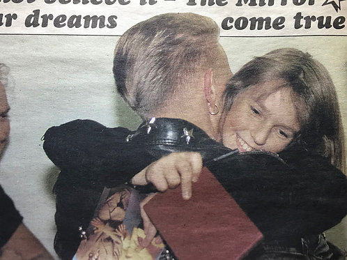 1989 Oct 'Luckiest Kid In Britain' BROS Daily Mirror Newspaper Article