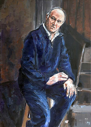 New self portrait painting by David Porteous-Butler