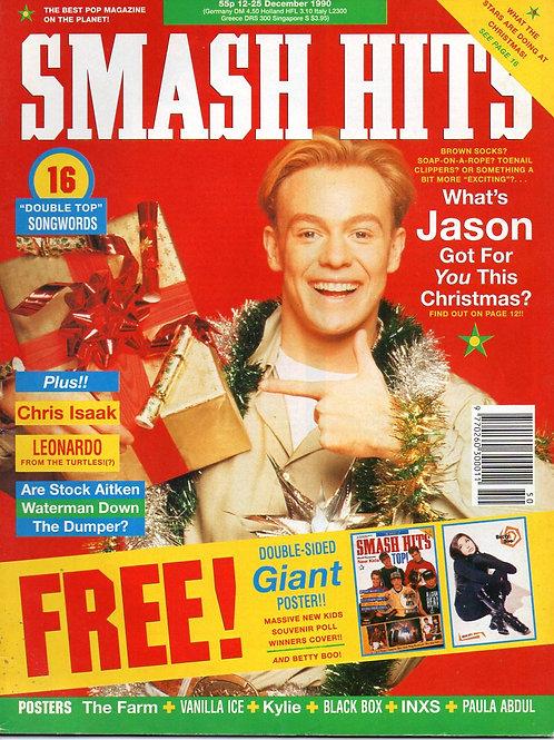 SMASH HITS MAGAZINE DEC 1990 JASON DONOVAN CHRIS ISAAK LEONARDO