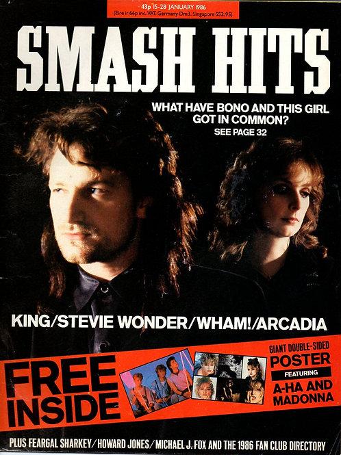 SMASH HITS 31 JAN 1985 BONO U2 MAIRE CLANNAD EURYTHMICS