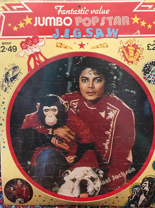1980's Round Jigsaw Puzzle RARE Michael Jackson Brand New Sealed Original Pack