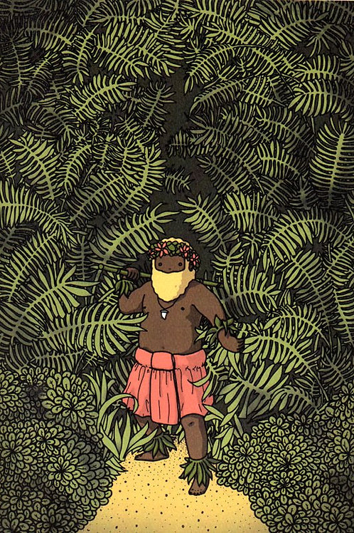 'Whakiti' Beardy Bear by NAKI