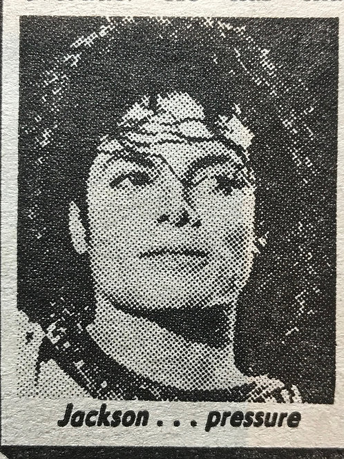 1990 June 6 'Jacko Collapsed In Nerve Attack' MICHAEL JACKSON The Sun Newspaper