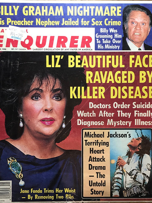 1990 June 19 National Enquirer Newspaper Article featuring MICHAEL JACKSON