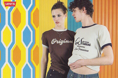 Levi's Promo Postcard 1996 Levi Strauss & Co. 'Original Tee'