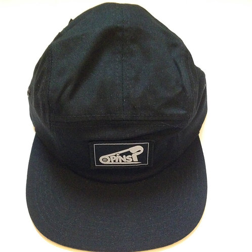 'Krispy Cap' Black Hat by PINS Artist