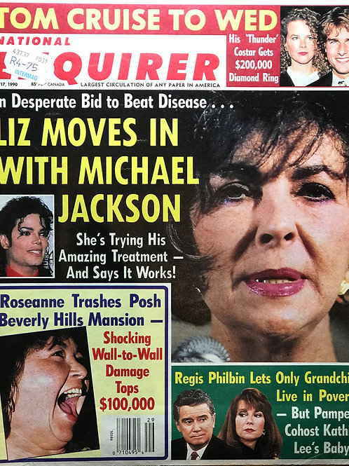 1990 July 17 National Enquirer Newspaper Article feat. MICHAEL JACKSON