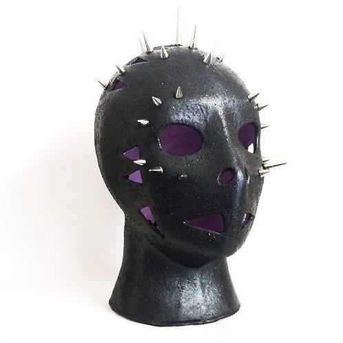 Maurizio Lo Castro 'Grinder' at White City Gallery London. Porcelain mask sculpture 2nd Skin BDSM
