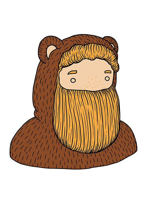 'Little Beardy Bear' (Orsetto) by NAKI