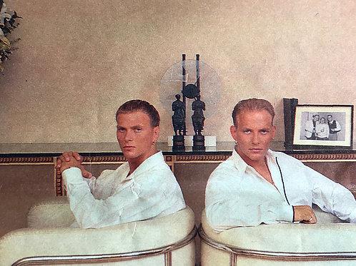1989 Sunday Times newspaper Article featuring Matt Goss & Luke Goss of pop group BROS