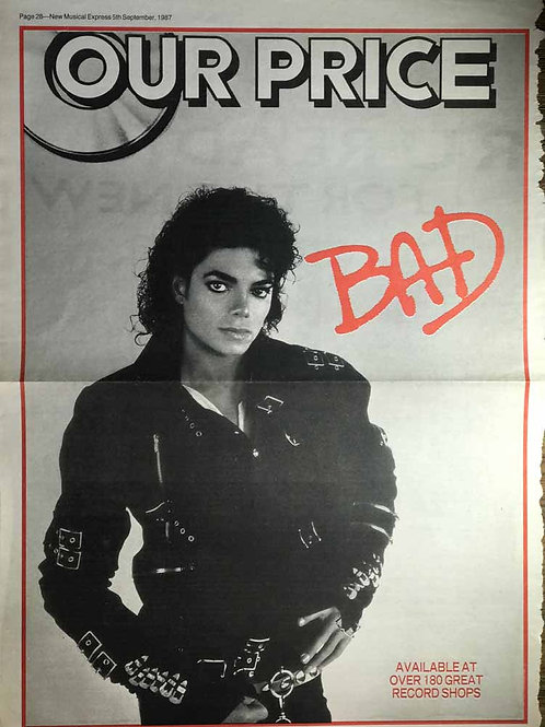 1987 Sep BAD Advert NME Music UK MICHAEL JACKSON / YOUSSOU N'DOUR Article