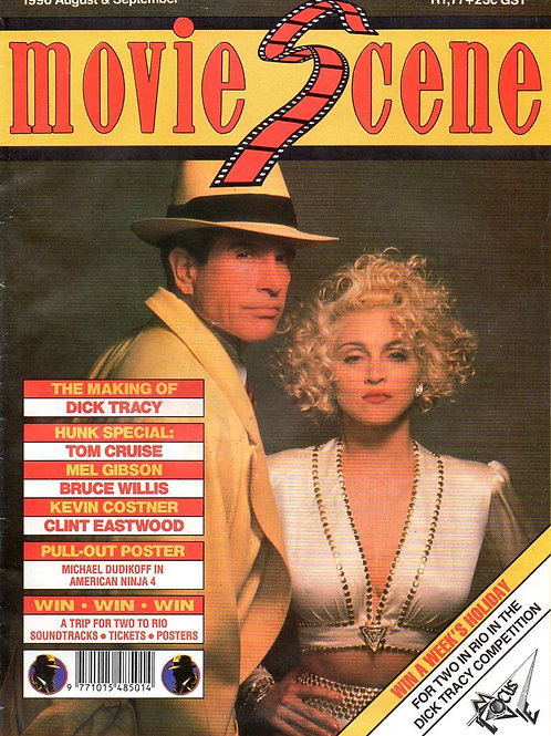 Madonna and Warren Beatty on the cover of Movie Scene Magazine (South Africa)