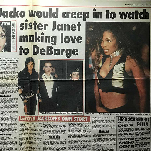 1993 'Jacko Would Creep In' MICHAEL JACKSON The Sun News Article
