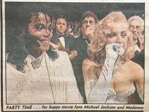 1991 March 27 THE SUN News Article feat. MICHAEL JACKSON, MADONNA, KEVIN COSTNER