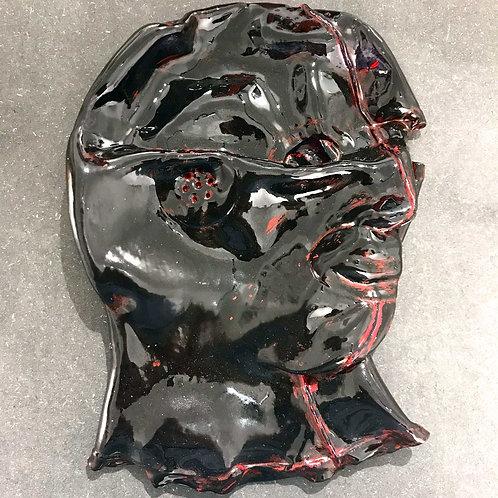 Maurizio Lo Castro 'Flat Black' at White City Gallery London. Porcelain mask sculpture 2nd Skin BDSM