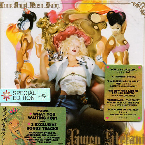 GWEN STEFANI Love. Angel.Music.Baby SPECIAL EDITION 2 BONUS TRACKS