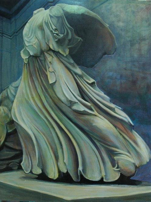 Flow. sculptural Sensual liquid rock, Greek mythology original painting by Deirdre Hyde Costa Rica, White City Gallery London
