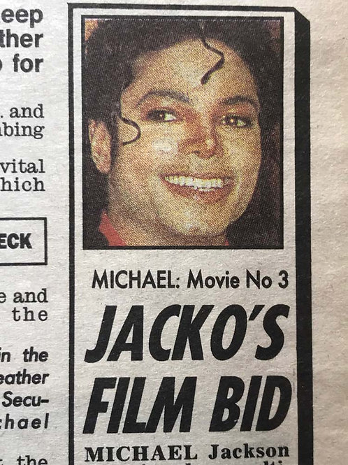 1991 Feb 5 DAILY MIRROR News Article MICHAEL JACKSON / RAQUEL WELCH