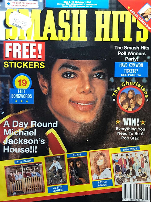 1990 Smash Hits Magazine MICHAEL JACKSON JASON DONOVAN PAULA ABDUL SNAP!