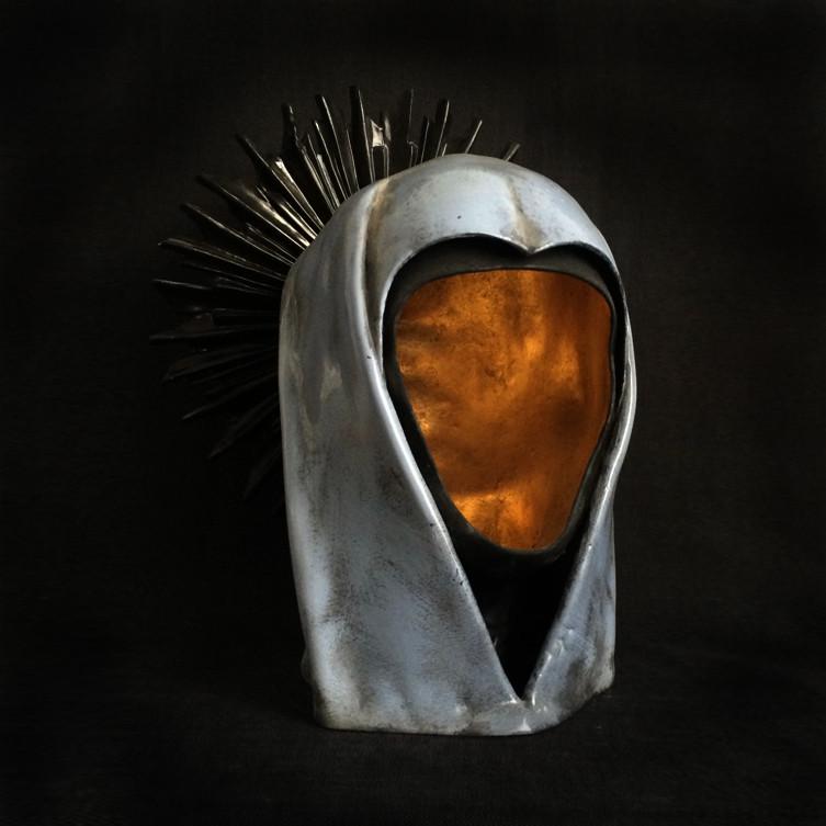'Our Lady' porcelain head sculpture by Maurizio Lo Castro