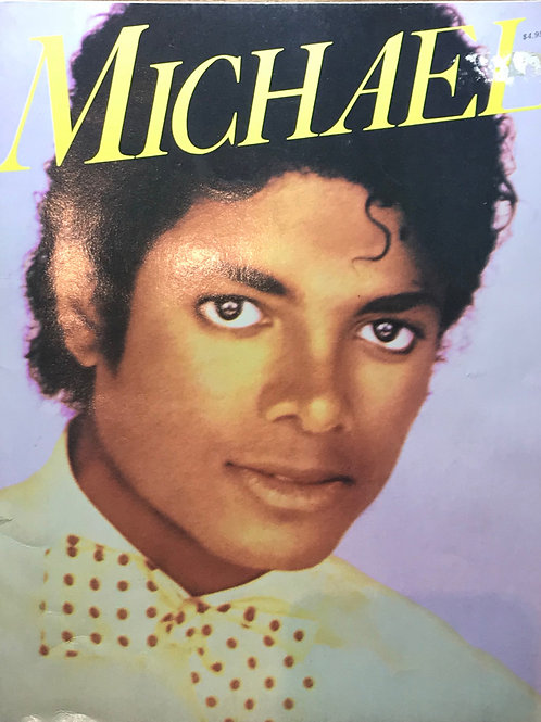 Front cover of 'Michael: In Concert, With Friends, At Play' a special Michael Jackson collectable souvenir from 1984
