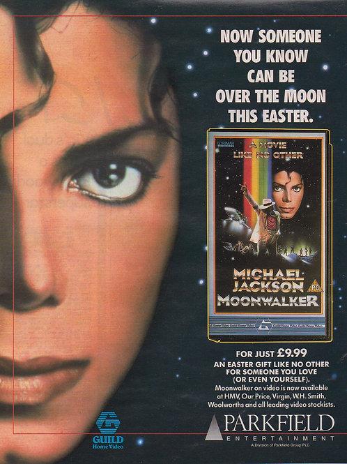 1988 MOONWALKER Sun Video UK Magazine Advert MICHAEL JACKSON RARE