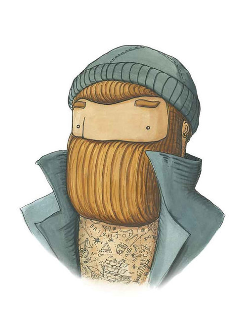 'Capitan Tattoo' Beardy Bear by NAKI