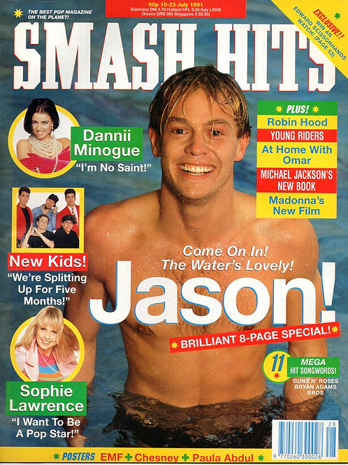 SMASH HITS MAGAZINE JULY 1991 JASON DONOVAN DANNII MINOGUE MICHAEL JACKSON