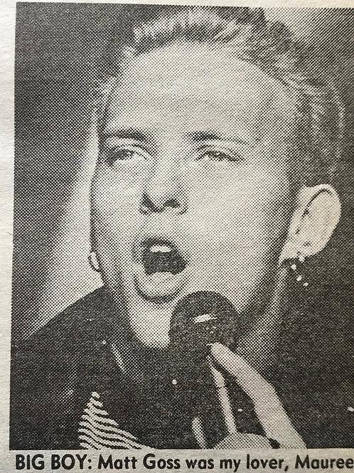 February 1989 News Of The World Article featuring Matt Goss & Luke Goss of pop group BROS