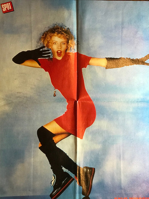 1988 SPOT LIGHT Magazine Poster KYLIE MINOGUE and MICHAEL JACKSON (FRENCH)