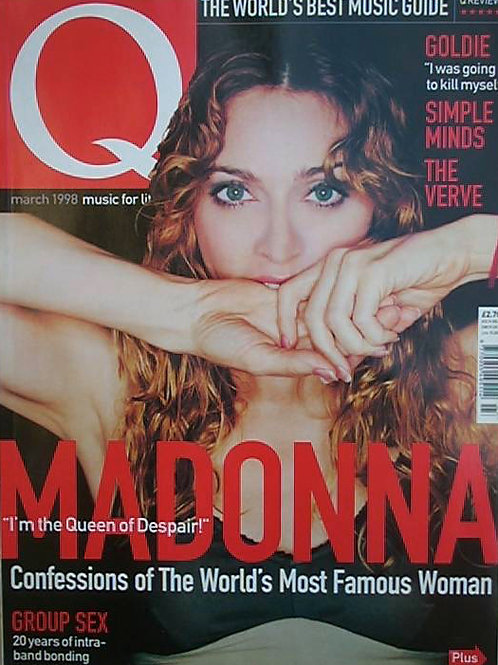 Q MAGAZINE MAY 1991 MADONNA SIMPLE MINDS THE VERVE