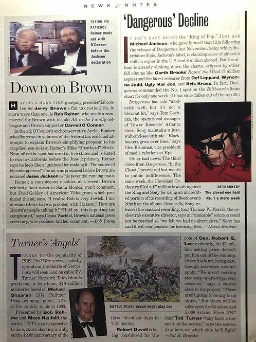 Entertainment Weekly Michael Jackson Dangerous