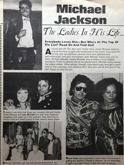 1980's 16 Magazine Article MICHAEL JACKSON, DIANA ROSS, LIZA