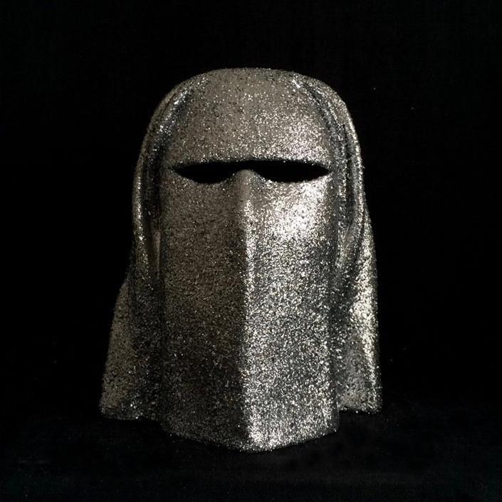 'Burqa Disco' porcelain head sculpture by Maurizio Lo Castro