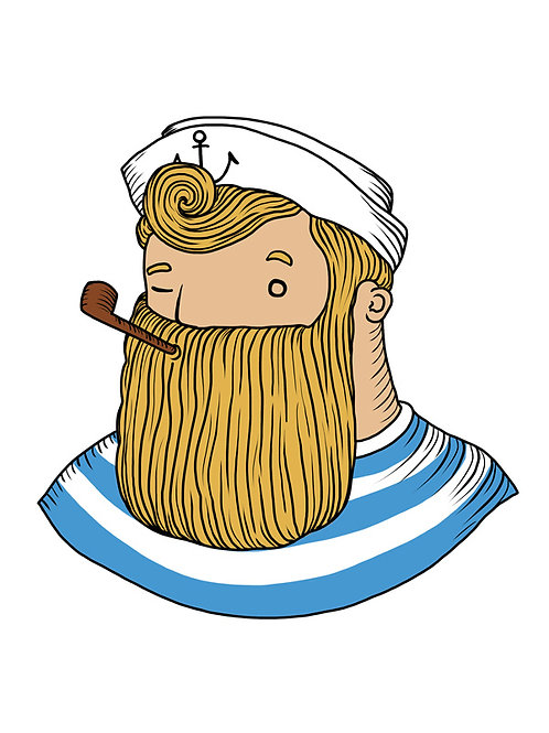 'Classic Sailor' Beardy Bear by NAKI